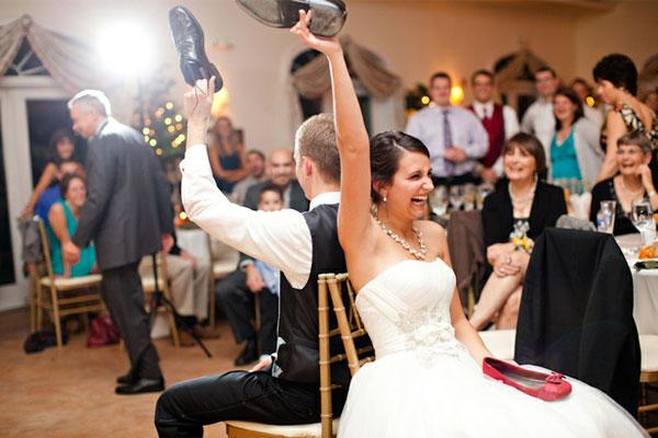 Hry a zábava na svatbě