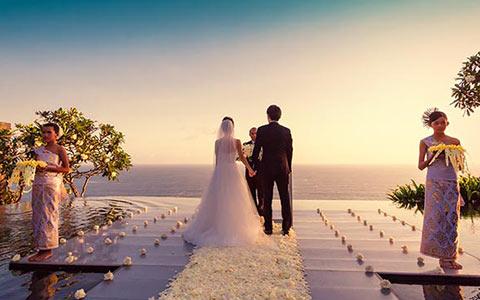 Svatba na Bali v Indonésii