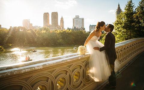 Central park, New York USA, místo na svatbu.