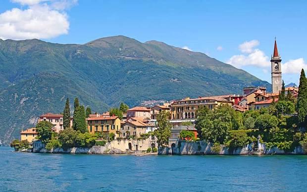 Jezero Como, Itálie, skvělé místo na svatbu.