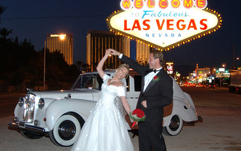 Svatební obřad v Las Vegas, USA