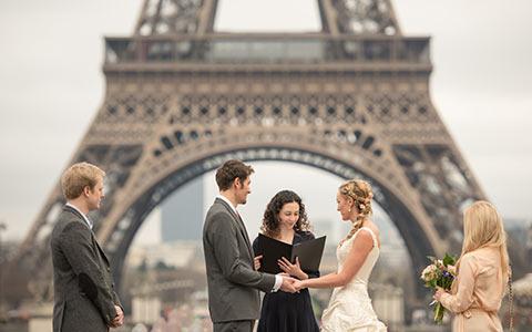 Paříž - Francie, místo na svatbu.